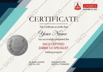 CERTIFIED ZABBIX 5.0 SPECIALIST